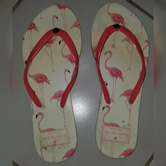 kate spade Shoes - KATE SPADE Flamingo Flipflops 6M